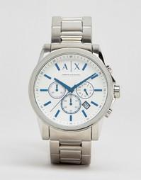 Часы с хронографом из нержавеющей стали Armani Exchange AX2510 - Серебряный