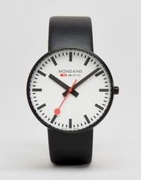 Черные часы с циферблатом диаметром 42 мм Mondaine Giant - Черный