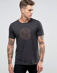 Черная футболка‑поло узкого кроя с принтом логотипа в стиле пейсли Pretty Green - Черный