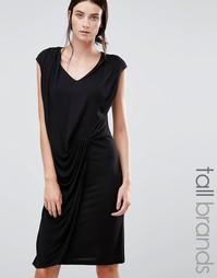 Платье со сборками спереди Y.A.S Tall Chase - Черный