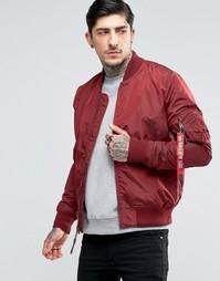 Бордовая куртка-пилот кроя слим Alpha Industries MA-1 - Красный