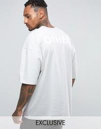 Oversize-футболка с принтом сзади Other UK - Синий
