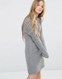 Платье-футболка с длинными рукавами Moon River - Серый