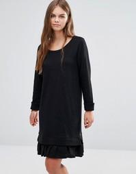 Двухслойное трикотажное платье в спортивном стиле Maison Scotch - Черный