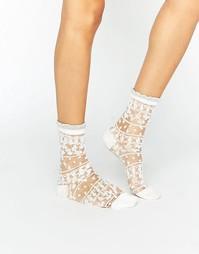 Прозрачные носки Gipsy Pretty - Белый