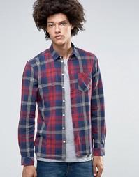 Клетчатая рубашка узкого кроя Minimum Hillside - Красный