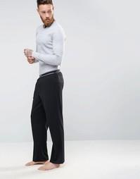 Свободные штаны для дома с контрастным поясом BOSS By Hugo Boss - Черный