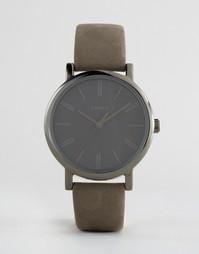 Часы с серым кожаным ремешком Timex Originals - Серый