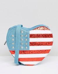 Сумка через плечо в форме сердца с отделкой под американский флаг Skinnydip - Мульти