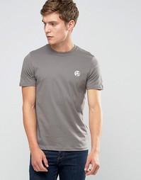Серая футболка слим с логотипом PS Paul Smith - Серый