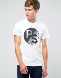 Белая футболка слим с принтом PS Paul Smith - Белый
