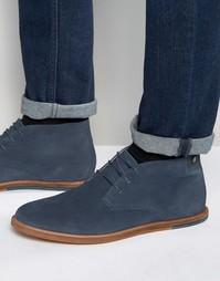 Темно-синие замшевые ботинки чукка Frank Wright Strachan - Синий