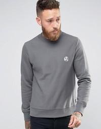 Серый свитшот классического кроя с логотипом PS Paul Smith - Серый