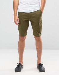 Зауженные шорты-карго Jack & Jones - Зеленый