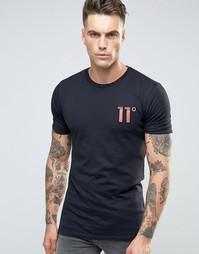 Футболка с камуфляжным логотипом 11 Degrees - Черный