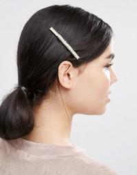 Заколка для волос с бантиком Love Rocks - Золотой