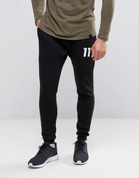 Зауженные спортивные штаны 11 Degrees - Черный