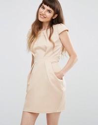 Платье-тюльпан со складками QED London - Золотой