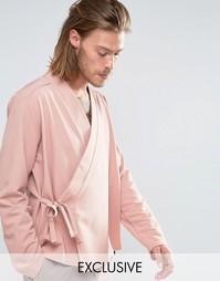 Рубашка классического кроя Reclaimed Vintage Karate - Розовый