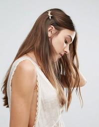 Заколка для волос со звездой и полумесяцем Orelia - Золотой