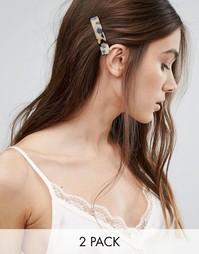 Две заколки для волос Orelia - Коричневый