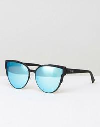 Солнцезащитные очки кошачий глаз с плоскими стеклами Quay Australia Game - Черный