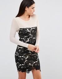 Ажурное облегающее платье Girl In Mind Frona - Черный