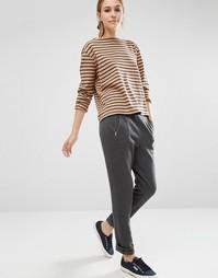 Трикотажные штаны из органического хлопка с молниями People Tree - Серый