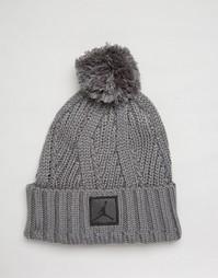 Серая шапка-бини Nike Jordan Jumpman 801768-065 - Серый