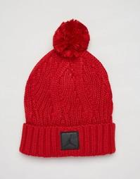 Красная шапка-бини с помпоном Nike Jordan Jumpman 801768-687 - Красный