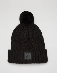 Черная шапка‑бини Nike Jordan Jumpman 801768-010 - Черный