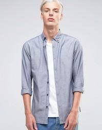 Оксфордская рубашка Troy - Темно-синий