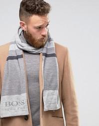 Шарф с логотипом BOSS Green By Hugo Boss Ciny - Серый
