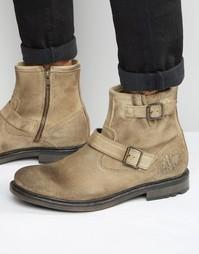 Замшевые байкерские ботинки Base London Zinc - Рыжий