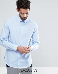 Классическая узкая рубашка стретч Farah - Синий