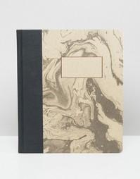 Блокнот формата A5 с мраморным принтом Ohh Deer - Мульти