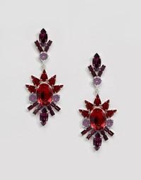 Серьги с кристаллами Swarovski Krystal - Красный