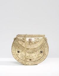 Металлическая сумка с ручной гравировкой Park Lane - Золотой