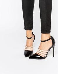 Сандалии на каблуке с ремешком вокруг щиколотки Lost Ink Dispute - Черный