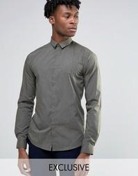Меланжевая облегающая рубашка Noak - Зеленый
