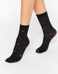 Кружевные носки Jonathan Aston - Черный
