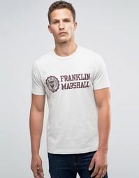 Футболка с гербом Franklin and Marshall - Серый