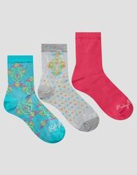 3 пары носков с принтом пейсли Ruby Rocks - Мульти