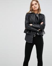 Байкерская куртка из искусственной кожи Blank NYC - Черный
