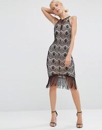 Кружевное платье-футляр Jessica Wright - Черный