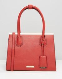 Структурированная сумка‑тоут Dune - Красный