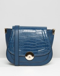 Большая сумка с эффектом крокодиловой кожи Dune - Синий