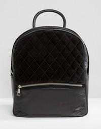 Рюкзак со стеганой замшевой вставкой Urbancode - Черный