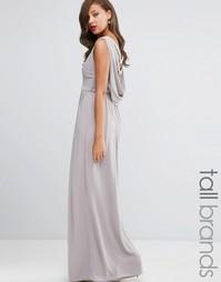 Платье макси с драпировкой TFNC Tall WEDDING - Серый