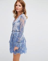 Трикотажное платье с пуговицами Millie Mackintosh - Синий
